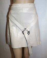 MISSGUIDED Brand Ivory Faux Leather Belt Buckle Skirt Size 20 BNWT #TQ35