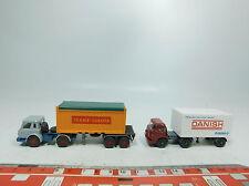 BB299-0,5# 2x Wiking H0/1:87 LKW: MAN Danish + IH/Harvester Trans-Europa, NEUW