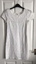 Monsoon Pretty White Lace Dress Size 10