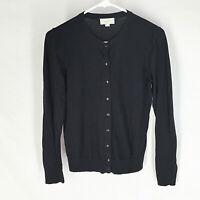 Ann Taylor Loft Black Cardigan Sweater Size Medium Pinup Solid Womens
