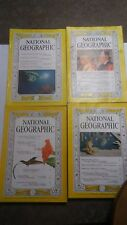 1960 NATIONAL GEOGRAPHIC MAGAZINES  4 ISSUES ALL DIFFERENT not complete (NG18)