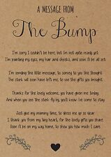 Baby Shower Games, Message from the Bump For Girls and Boys