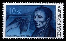 Inventor Blind writing Louis Braille. 1w. Czech Republic 2009