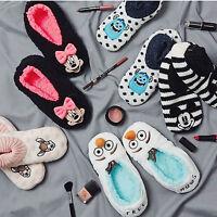 Primark Ladies DISNEY Cosy Slippers Slipper Socks VARIOUS DESIGNS
