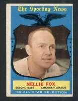 1959 Topps #556 Nellie Fox EX/EX+ White Sox AS 72757