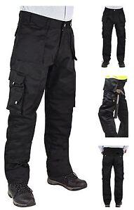 News Mens Ruff N Tuff Heavy Duty Cargo Workwear Trousers