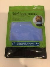 NEW! Z TECH WRAP AROUND STAY COOL TOWEL 25IN X 15IN RESEALABLE REUSABLE BLUE