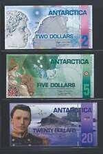 Antarctica Antarctique  Lot de 3 billets différent en état NEUF Lot N° 4
