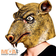 Rat Latex Mask Fancy Dress Mouse Rodent Animal Halloween Adult Costume Accessory