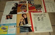 JACQUES DUTRONC 7 CLIPPING 7 coupures de presse articles Lot 01