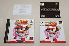 "Jikkyou Powerful Pro Yakyuu '98 ""Japan Import"" SONY Playstation 1 PS I TOP + RAR"