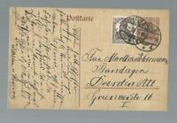 13370 - 1920 15 pfg. GA DR.+ Zusatz Pirna gest.- Dresden
