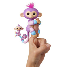 WowWee Fingerlings, Baby Monkey & Mini BFFs, Violet & Hope, Mauve, Hand Puppets