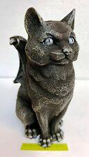 Cat Gargoyle Guardian Winged Statue Figurine Gothic Candle Holder Candleholder
