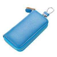 Men's Premium Leather Key Chain Pouch Purse Key Holder Case Bag Wallet Zipper