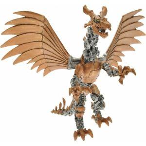 "New Papo Mechanical Golden Robot Dragon 8"" Figure Free UK Postage"