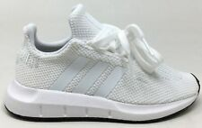 Adidas Unisex Kids Swift Run C Athletic Sneakers White / Black Size 2 M US