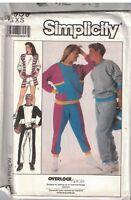 8959 UNCUT Simplicity Sewing Pattern Misses Mens Knit Pants Shorts Top Casual