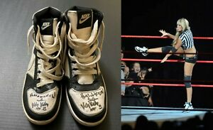Kelly Kelly WWE 2X Signed/Autographed Authentic Ring Worn Nike Sneakers