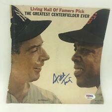 Rare 1950's Willie Mays Signed Magazine Cover Photo W/ Joe Dimaggio  PSA DNA COA