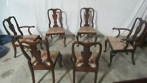 Henkel Harris Dining Room Chairs Mahogany Queen Anne