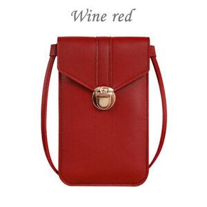 Women Touch Screen Crossbody Cell Phone Bag Wallet Pouch Purse Shoulder Case CA