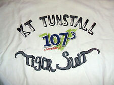 KT Tunstall Boom 107.3 FM T-Shirt Tiger Suit Large Cleveland Radio K.T. RARE