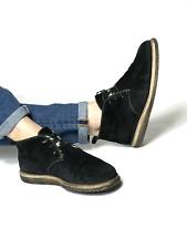 Authentic GUCCI men's hi-top black suede fur desert boots Sz 7.5 (27.5cm/10.8in)
