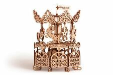 Wood Trick Carousel Merry Go Round Mechanical Wooden 3D Puzzle Model Assembly