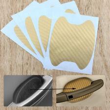 4x Golden Carbon Fiber Car Door Handle Anti-Scratch Protective Film Stickers Set