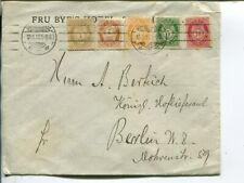 Norway 10+5+3+2+1ö on cover to Berlin 1910