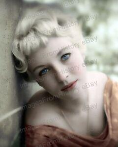 8x10 Print Venetia Stevenson Blonde Bombshell #BL1