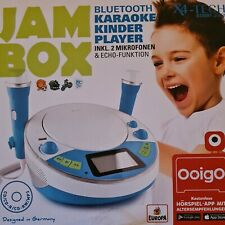 X4-TECH JamBox Kinder CD Player mit USB, Bluetooth, MP3 und Karaoke