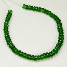 """4.2mm-5.5mm Siberian Chrome Diopside Faceted Rondelle Bead 5.5"""" Strand"""