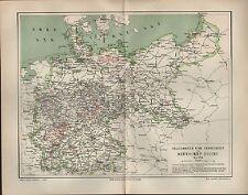 Landkarte map 1894: STAATSBAHNEN UND PRIVATBAHNEN IM DEUTSCHEN REICH MAI 1894.