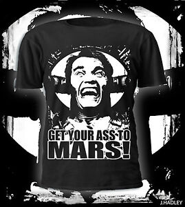 Get your ass to mars...total recall tribute t-shirt,Arnie,film,dvd