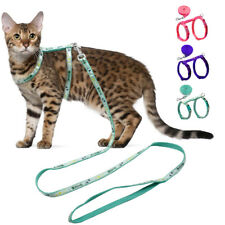 Cat Escape Proof Harness and Leash set Small Puppy Dog Kitten Walking Vest Blue