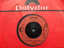 Mike Berry - The Sunshine Of Your Smile / I Am As Old As Paul Mccartney U.K 45
