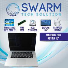 "APPLE Macbook pro 15"" retina Intel Core i7 Ram 16GB SSD 512GB garanzia 12 mesi"