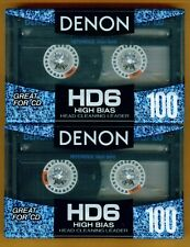2 Denon HD6 High Bias 100 Minute Cassettes - Made in Japan
