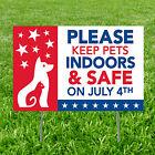 Patriotic Keep Pets Safe Yard Sign - Party Decor - 1 Piece