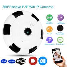 360° Wifi Sans Fil HD IP Caméra Vision Nuit CCTV Maison Surveillance Sécurité