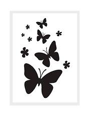 Stencils Wand/Mal/Textil-Motiv-Schablone Schmetterlinge