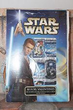 30 foil valentines Star Wars SAGA 2002 box
