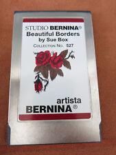 Studio Bernina Artista BEAUTIFUL BORDERS SUE BOX #527 Emb Card