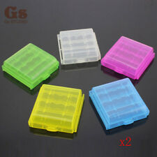 10x Hard Plastic Case Holder Storage Box Cover for Rechargeable AA AAA Battery