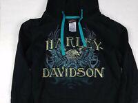 Steel City Harley-Davidson Women's Washington PA Eagle Hoodie w/ Thumb Holes S