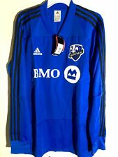 Adidas Long Sleeve MLS Jersey Montreal Impact Team Blue Alt sz L