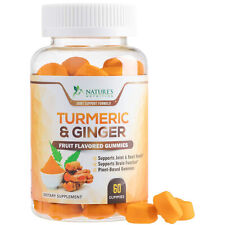 Turmeric Gummies with Ginger Highest Potency Chewable Joint Support Gummy