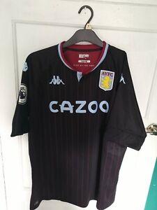 Aston Villa Away Shirt 20/21 2XL Kappa Mens Stadium Watkins 11 PL Badges